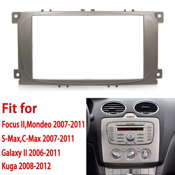 2din car radio frame For Ford Focus II C-Max S-Max Fusion Stereo Panel Dash Mount Double Din Fascia Install Kit Refit Frame 178 - efair.co