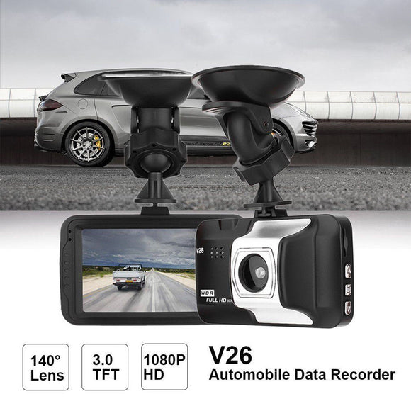 3 Inch Dash Cam Car DVR 1080P HD Interface Auto Video Recorder G-Sensor Vehicle Dash Cam with HDMI Car Dash Board DVR Camera - efair.co