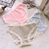 3 Pcs/lot Panties Underwear Women Cotton Briefs Girls Tanga Cute Underpants For Women Underwear Calcinhas Sexy Lingeries Panty - efair.co