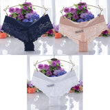 3 Pieces Lace Sexy Female Panties G-String Briefs Lingerie Low Waist Cotton Red Black White Hot Soft New T-back Underwear Woman - efair Best spare parts online shopping website