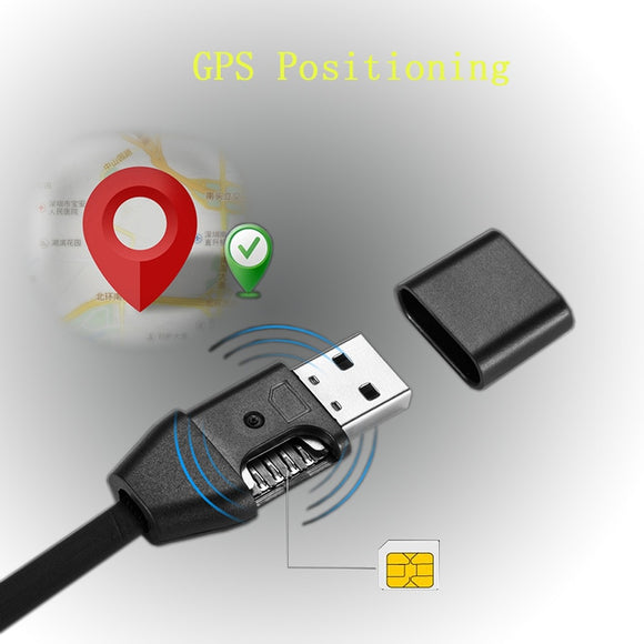 3 in 1 GIM Answer Monitor USB Charging Data Transfer Cable GPS Locator GPS Position Line Tracking Cord Compatible with SIM Card - efair.co