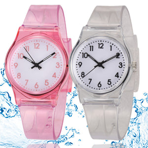 30M Waterproof Children Watch Casual Transparent Watch Jelly Kids Boys Watch Girls Wrist Watches clock relogio montre enfant - efair.co