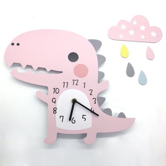3D Animal Wall Clock Dinosaur Pattern Design Decoration for Home Bedroom Vintage Home Wall Decor Wall Clock for Kids Room - efair.co