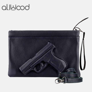 3D Print Gun Pistol Bag Brand Women Bag Chain Messenger Bags Designer Clutch Purse Ladies Envelope Clutches Crossbody Bag Bolsas - efair.co