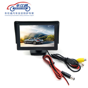 4.3 inch TFT LCD Parking Car Rear View Monitor Car Rearview Backup Monitor 2 Video Input for Reverse Camera DVD - efair.co