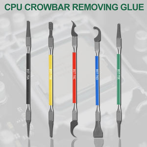 5 in 1 IC Chip Repair Thin Blade CPU NAND Remover BGA Maintenance Knife Remove Glue Disassemble Phone PC Rework Processor Tools - efair Best spare parts online shopping website
