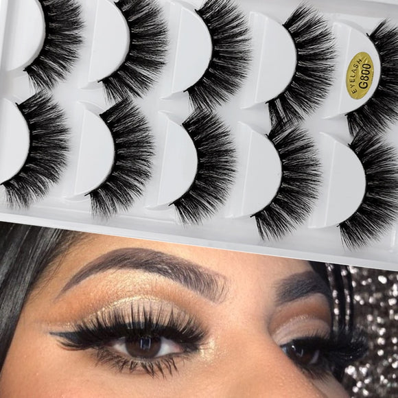 5 pairs natural false eyelashes fake lashes long makeup 3d mink lashes extension cilio eyelash mink eyelashes for makeups beauty - efair Best spare parts online shopping website