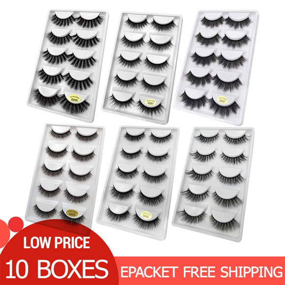 50 pairs Wholesale Eyelashes Natural Mink Eyelashes False Eye Lashes Mink Lashes Fake Eyelash Extensions maquiagem faux cils - efair Best spare parts online shopping website