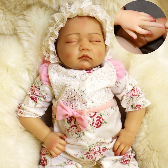 50cm Soft Lifelike Real Human Skin Solid Silicone Reborn Baby Doll Toy 20inch Realistic bebes Reborn Newborn Baby Toys - efair Best spare parts online shopping website
