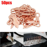 50pcs Copper Plated Oval Dent Puller Rings Car Body Paintless Dent Lifter Repair Tool Puller kit Dent Removal Washer Too - efair Best spare parts online shopping website