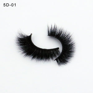 5D Mink Lashes Thick HandMade Full Strip Lashes False Eyelashes 2019 New Style - efair.co