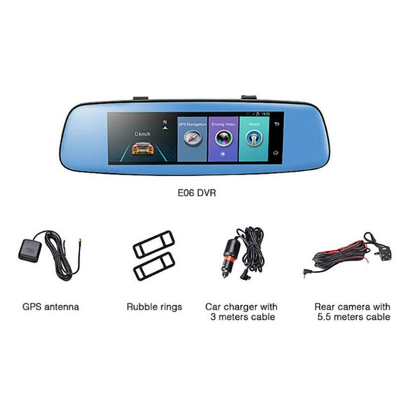 7.84 inch 1080P Mini WiFi Car Camera DVR Video Dash Cam Recorder Monitor Night Vision View Angle 140