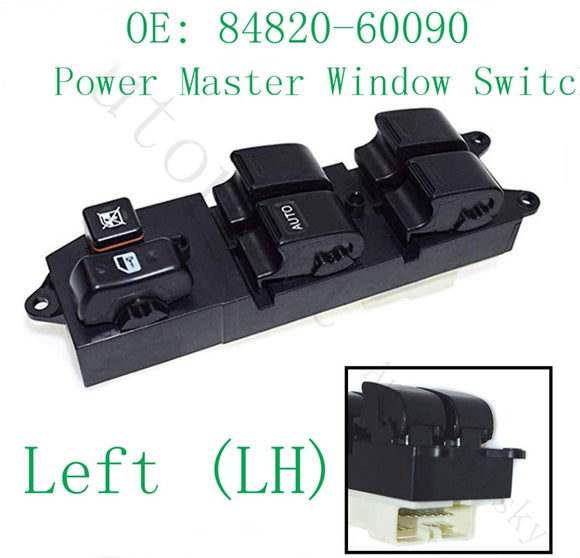84820-60090 84820-AA011 Front LH Left Driver Side Power Master Window Switch For Toyota Corolla Camry Avalon 8482060090 DS2117