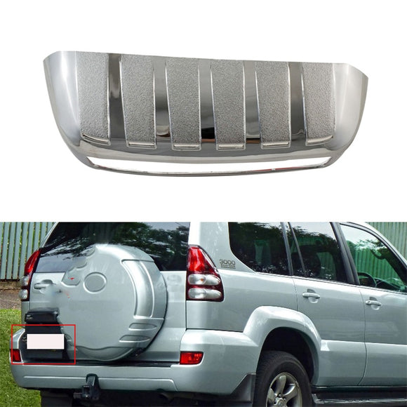 ABS Rear back License Plate Trunk Lid Cover For Toyota Land Cruiser Prado FJ120 2002-2009 Auto parts Trim - efair Best spare parts online shopping website