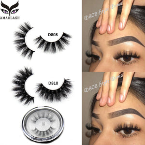 AMAOLASH Mink Lashes 3D Mink False Eyelashes Cruelty free Natural handmade Mink Eye lashes Extension Makeup Fake Lashes D808 - efair Best spare parts online shopping website
