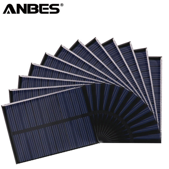 ANBES Solar Panel 5V 6V 12V Mini Solar System DIY For Battery Cell Phone Chargers Portable 0.15W 0.6W 1W 1.25W 1.5W Solar Cell - efair.co