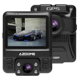 AZDOME GS65H Dual Lens Car Dvr Dash Cam Front Full Hd 1080P Rear 720P Video Recorder Car Camera Night Vision Gps