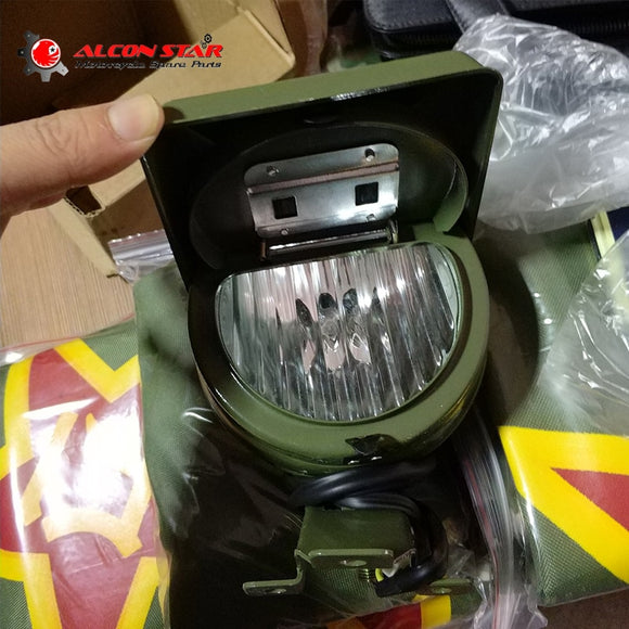 Alconstar for BMW R1 R50 R71 M72 Ural CJ-K750 motor original green color side car front fog lamp light side car