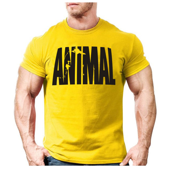 Animal Print Tracksuit T Shirt Muscle Shirt Trends In 2018 Fitness Cotton Brand Clothes for Men Bodybuilding Tee Large XXL - efair Best spare parts online shopping website