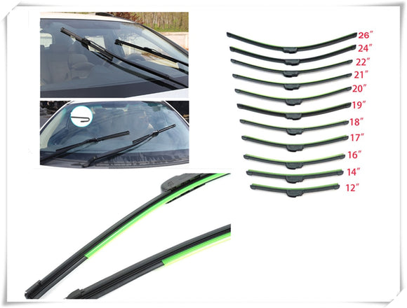 Auto parts windshield wiper U-shaped without bracket rubber for Toyota 4Runner Sienna Sequoia Prius GR Camry i-TRIL