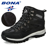 BONA New Design Classics Style Men Winter Boots Male Snow Ankle Boots  Warm Casual Boots Comfortable Anti-Slip Free Shipping - efair.co