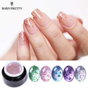 BORN PRETTY Flower Fairy UV Gel Nail Polish 5ml Colorful Pink Green Semitransparent Soak Off Nail Art Gel Varnish Design - efair Best spare parts online shopping website