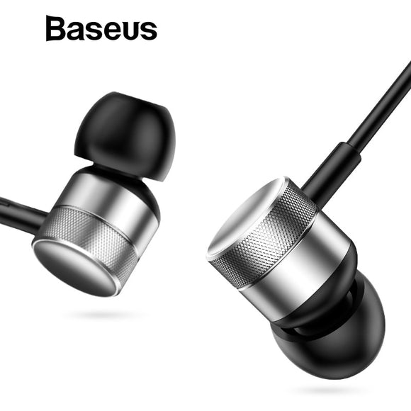 Baseus H04 Bass Sound Earphone In-Ear Sport Earphones with mic for xiaomi iPhone Samsung Headset fone de ouvido auriculares MP3 - efair Best spare parts online shopping website