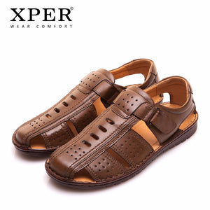 Big Size 44 45 XPER Brand Men Sandals Beach Shoes Fretwork Fisherman Shoes Male Style Retro Gladiator Casual Footwear #YMD86355 - efair Best spare parts online shopping website
