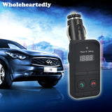 Black Hands Free Wireless Bluetooth Car Kit MP3 Player FM Transmitter Modulator SD USB LCD Remote Controll Car Music Player - efair.co
