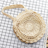Bohemian Straw Bags for Women Circle Beach Handbags Summer Rattan Shoulder Bags Handmade Knitted Travel Big Totes Bag 2019 New - efair.co