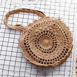 Bohemian Straw Bags for Women Circle Beach Handbags Summer Rattan Shoulder Bags Handmade Knitted Travel Big Totes Bag 2019 New - efair Best spare parts online shopping website