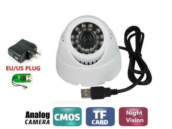 CCTV USB DVR Recorder Night Vision Mini Dome Camera DVR Loop Recorder Security Camera USB Support 32GB TF Card - efair.co