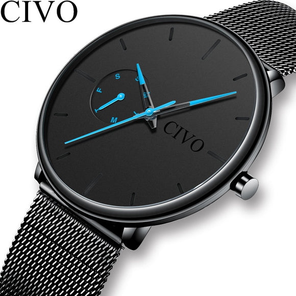 CIVO Fashion Casual Mens Watches Waterproof Analogue Sports Wristwatches Men Quartz Watches For Men Gift Clock Relogio Masculino - efair Best spare parts online shopping website
