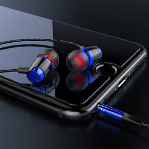 CT8 Super Bass Metal Earphone In ear with mic Wired headphones for Mobile Phone HiFi music earbuds for iphone  6 xiaomi phone - efair Best spare parts online shopping website