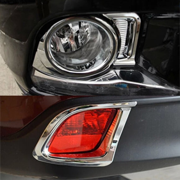 Car Accessories Fit For Toyota Highlander 2015 ABS Chrome Exterior Front Rear Fog Light Lamp Cover Trims Sticker Auto Parts 4Pcs - efair Best spare parts online shopping website