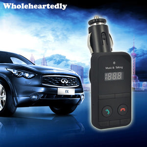 Car MP3 Audio Player Bluetooth FM Transmitter Wireless FM Modulator Car Kit HandsFree USB Charger LCD Display for iPhone Samsung - efair.co