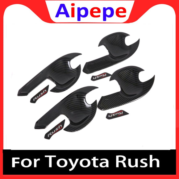 Carbon Fiber Door Handle Bowl Covers for Toyota Rush ABS Car Styling Parts Auto Stickers Accessories for Toyota Rush 2018 2019 - efair Best spare parts online shopping website