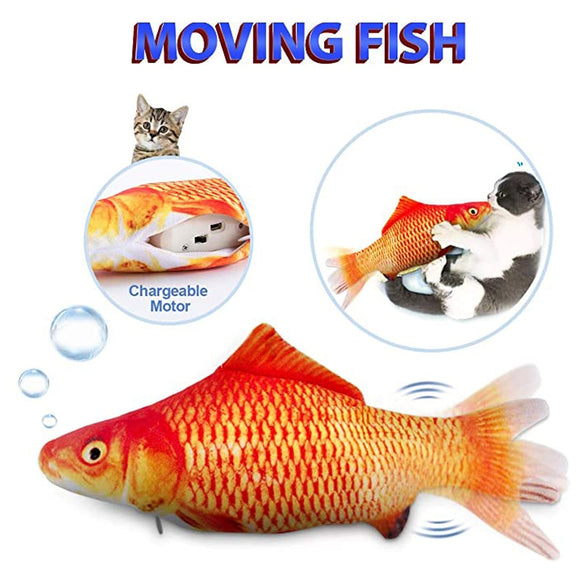 Cat Toy Stuffed Fish Toys Plush Pillow Electric Remote Control Soft Pet Toy Moving Fish Toys Cheap Cat For Toy With Catnip Anti