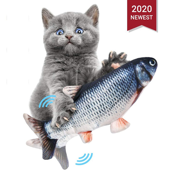 Cat Toys Interactive Electric Cat For Game Electronic USB Charging Switch Catnip Fish Playing Running Dancing Funny Gfit 3D  toy - efair.co