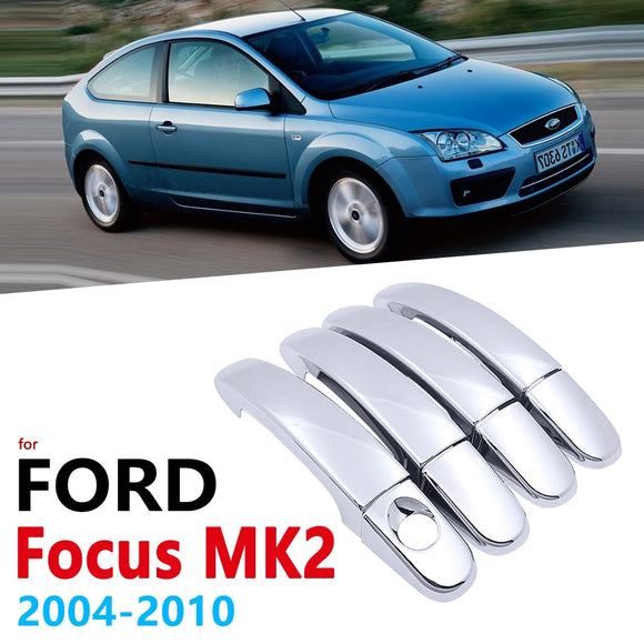 Chrome Handles Cover for Ford Focus MK2 MK2.5 2004~2010 Accessories Stickers Car Styling  2005 2006 2007 2008 2009 2010