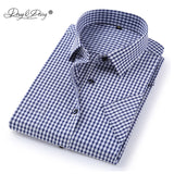 DAVYDAISY 2019 New Arrival Summer Men's Shirt Short Sleeved Plaid Striped Fashion Work Casual Shirt Man Formal Shirt DS227 - efair Best spare parts online shopping website
