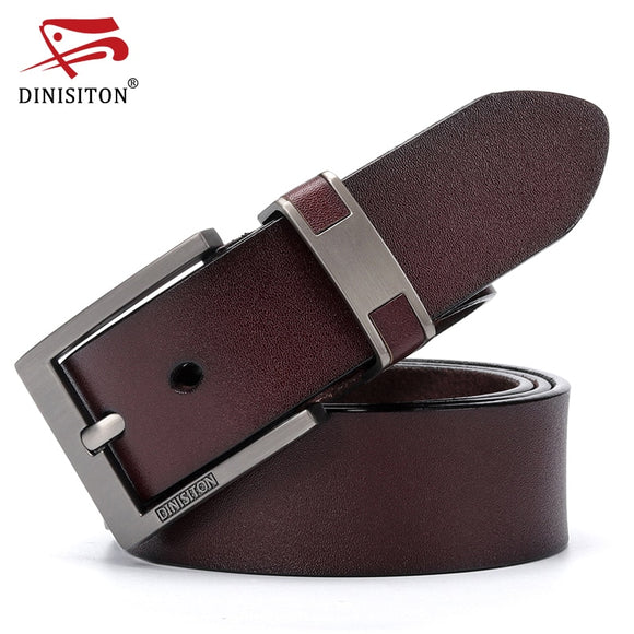 DINISITON Cow Genuine Leather Belts For men Luxury Men's Belt Leather Belt Alloy Buckle Casual Male Vintage Strap ceinture homme - efair Best spare parts online shopping website