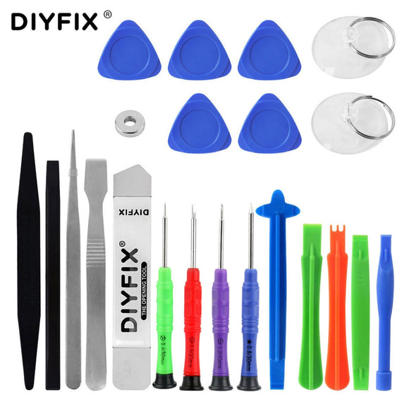 DIYFIX Mobile Phone Repair Tools Kit Spudger Pry Opening Tool Screwdriver Set for iPhone iPad Samsung Cell Phone Hand Tools Set - efair Best spare parts online shopping website