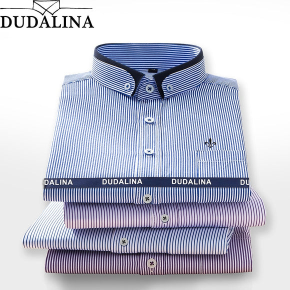 DUDALINA 2019 Men Shirt Long Sleeved Male Striped Formal Business Shirts Brand Work Shirt Man Party Cloths New Arrival - efair Best spare parts online shopping website
