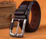 Designer Best Quality 100% Upper Genuine Leather Alloy Pin Buckle Belt For Men  Business Men Belt Fancy Vintage Jean Cintos Belt - efair Best spare parts online shopping website
