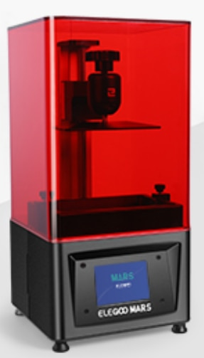 ELEGOO Mars UV Photocuring LCD 3D Printer with 3 5'' Smart Touch Color  Screen Off-line Print 4 72