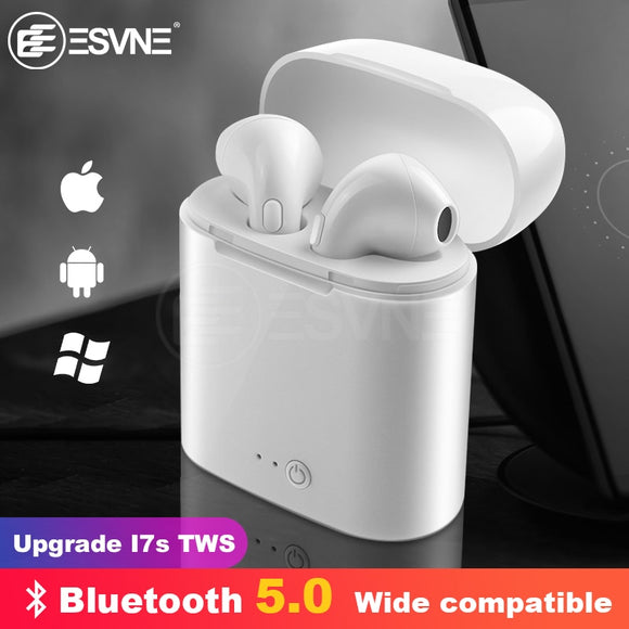 ESVNE I7s TWS Bluetooth Wireless Earphone Stereo Earbud Headset With Charging Box Mic All Bluetooth tablet Smartphone - efair Best spare parts online shopping website