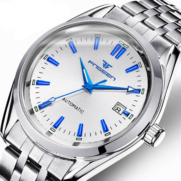 FNGEEN Luxury Brand Stainless Business Men Mechanical Watch Fashion Wristwatch Men watches Waterproof clock relogio masculino