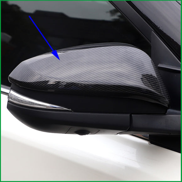 FOR Toyota Fortuner HILUX REVO RAV4 2015 2016 2017 Car Body SIDE DOOR REARVIEW MIRROR COVER STICKER TRIM CAR Styling Auto Parts