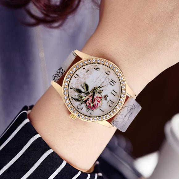 Fashion Eiffel Tower Quartz Vintage Leather Watch Women Students Retro Wrist Watches Ladies rhinestone Casual watch woman clock - efair Best spare parts online shopping website